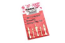 Tokyo Slider Gold Comic Pen Nibs - SL5555 - Set of 5 - TOKYO SLIDER SL-5555