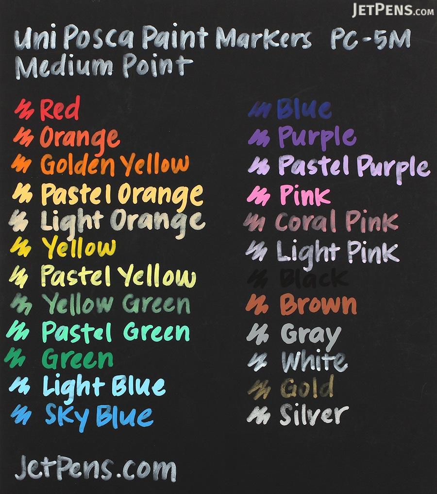 Uni Posca Paint Marker PC-5M - Medium Point - 8 Color Set - UNI PC5M8C