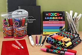 New Products: Uni Posca Paint Markers, Paper Mate Mini Ballpoint Pens, Sakura Study Sets, Kokuyo Enpitsu Mechanical Pencils, Faber-Castell Pitt White Pen, Etranger di Costarica Notebooks, and More!