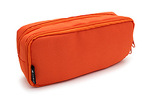 Cubix Round Zip Box Pen Case - Orange - CUBIX 106163-04-95