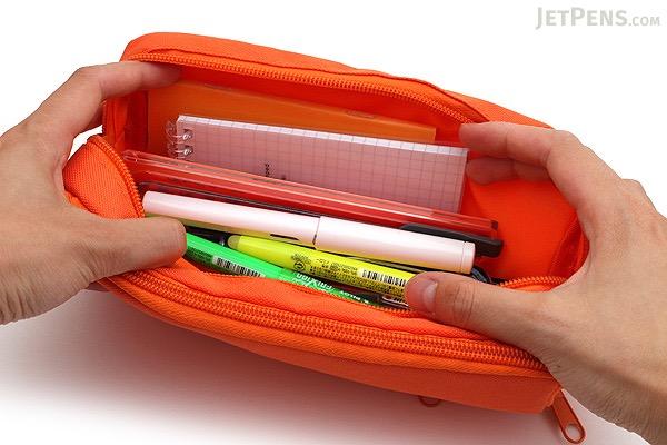 Cubix Round Zip Box Pen Case - Orange - CUBIX 106163-04-95