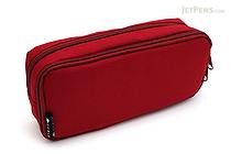 Cubix Round Zip Box Pen Case - Red - CUBIX 106163-05-95