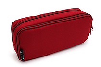Cubix Round Zip Box Pen Case - Red - CUBIX 106163-05-95