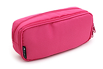 Cubix Round Zip Box Pen Case - Pink - CUBIX 106163-06-95