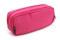 Cubix Round Zip Box Pen Case - Pink - CUBIX 106163-06-95
