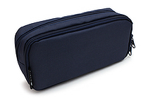 Cubix Round Zip Box Pen Case - Navy - CUBIX 106163-08-95