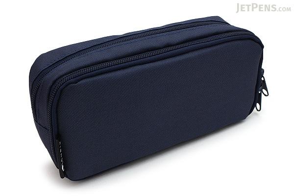 Cubix Round Zip Box Pen Case - Navy - CUBIX 106163-08-95