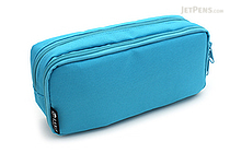 Cubix Round Zip Box Pen Case - Sky Blue - CUBIX 106163-36-95