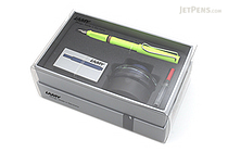 Lamy Safari Fountain Pen Gift Set - Neon Lime - Medium Nib - LAMY L43HS