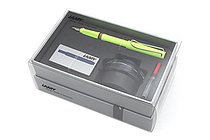 Lamy Safari Fountain Pen Gift Set - Medium Nib - Neon Lime Body - LAMY L43HS