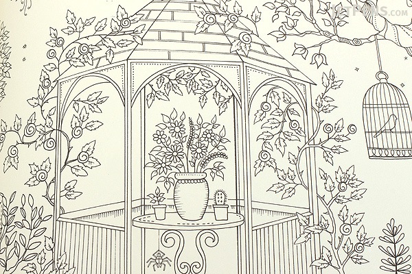 Secret Garden: An Inky Treasure Hunt and Coloring Book Johanna Basford JetPens.com
