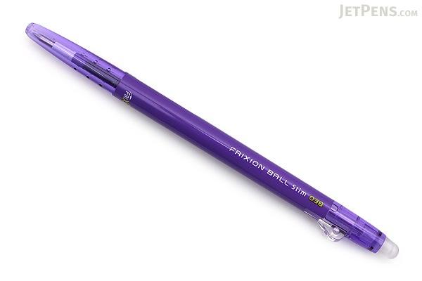 Pilot FriXion Ball Slim Gel Pen - 0.38 mm - Violet - PILOT LFBS-18UF-V