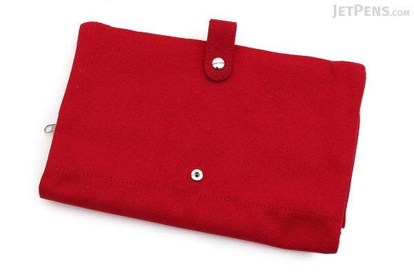 King Jim Tatamun Folding Pouch - Red - KING JIM 362 RED