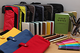 New Products: Pouches, Field Notes, Karas Kustom Bolt Pens, Mini Calendars, FriXion Ball Slim Gel Pens, and More!