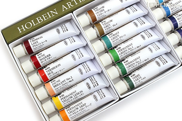 Holbein Artists' Watercolor Tube - 5 ml - 24 Color Set - HOLBEIN W405