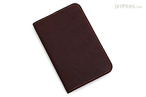 Word Notebooks Leather Notebook Sleeve - Brown - WORD NOTEBOOKS W-NBCOVERBRN