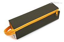 Kokuyo C2 Tray Type Pencil Case - Khaki Green + Yellow - KOKUYO F-VBF122-3