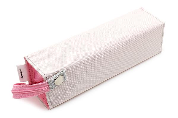 Kokuyo C2 Tray Type Pencil Case - Light Gray + Pink - KOKUYO F-VBF122-2