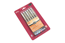 Sakura Pigma Micron Pen - Size 05 - 0.45 mm - 6 Color Set - SAKURA 30065