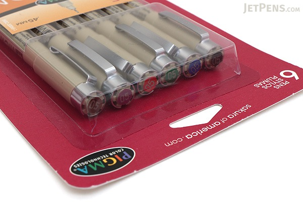 Sakura Pigma Micron Pen - Size 05 - 0.45 mm - 6 Color Set - SAKURA 30065