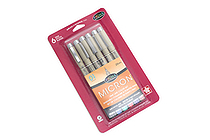 Sakura Pigma Micron Pen - Size 01 - 0.25 mm - 6 Color Set - SAKURA 30063