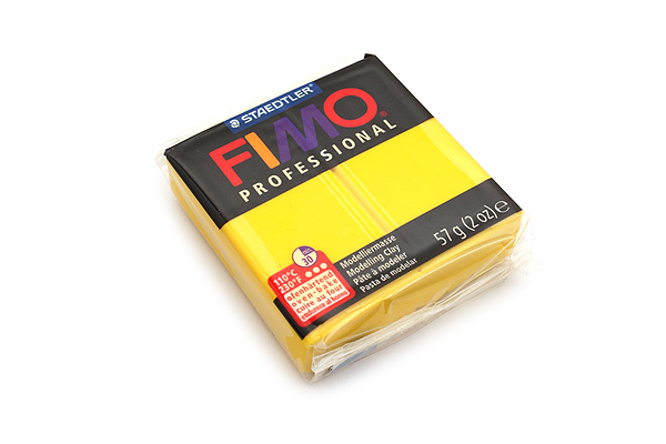 Staedtler FIMO Professional Modeling Clay - True Yellow - STAEDTLER 8005-100LU