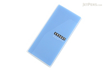 King Jim Oletta Tri-Fold Folder - A4 - Transparent Blue - KING JIM 796T BLUE