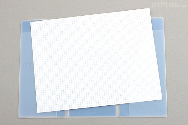 King Jim Oletta Tri-Fold Folder - A4 - Transparent Blue - KING JIM 796T BLUE
