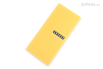 King Jim Oletta Tri-Fold Folder - A4 - Transparent Yellow - KING JIM 796T YELLOW