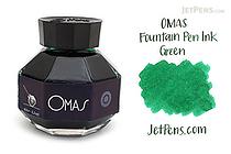 OMAS Green Ink - 62 ml Bottle - OMAS O00E002800-00