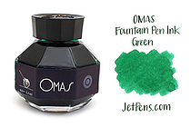 OMAS Fountain Pen Ink - 62 ml - Green - OMAS O00E002800-00