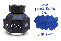 OMAS Fountain Pen Ink - 62 ml - Blue - OMAS O00E002000-00