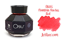 OMAS Fountain Pen Ink - 62 ml - Red - OMAS O00E002100-00
