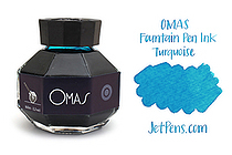 OMAS Fountain Pen Ink - 62 ml - Turquoise - OMAS O00E002200-00