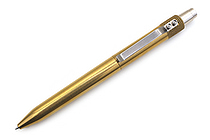 Karas Kustoms Retrakt Pen - Brass - 0.5 mm - Black Ink - KARAS KK-5040-BRASS