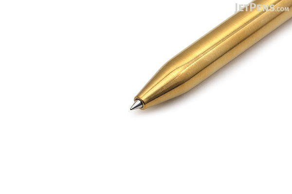 Karas Kustoms Retrakt Pen - Brass - 0.5 mm - Black Ink - KARAS KK-5040-BRASS