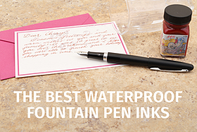 Waterproof Fountain Pen Inks