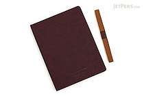 Apica Premium C.D. Notebook Hardcover - A5 - Graph - Wine Red - APICA CDS251S