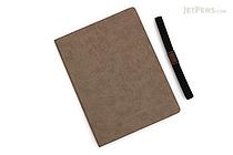 Apica Premium C.D. Notebook Hardcover - A5 - Blank - Light Brown - APICA CDS251W