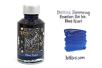 Diamine Shimmering Fountain Pen Ink - 50 ml - Blue Pearl - DIAMINE INK 9001