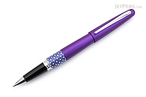 Pilot Metropolitan Retro Pop Rollerball Gel Pen - Fine Point - Purple Ellipse - PILOT MPRB1BLKFPPL