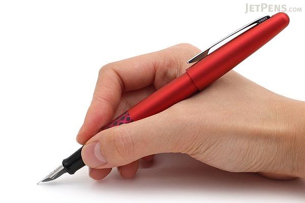 Pilot Metropolitan Retro Pop Fountain Pen - Red Wave - Fine Nib - PILOT MPFB1BLKFRED