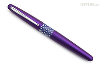 Pilot Metropolitan Retro Pop Fountain Pen - Purple Ellipse - Medium Nib - PILOT MPFB1BLKMPPL
