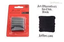 Art Alternatives Pen & Ink Sketch Black Ink - 12 Cartridges - ART ALTERNATIVES AA10214