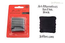 Art Alternatives Pen & Ink Sketch Ink Cartridges - Black - Pack of 12 - ART ALTERNATIVES AA10214