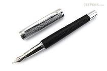 Ohto Giza Fountain Pen - Black - Fine Nib - OHTO FF-18L-BK