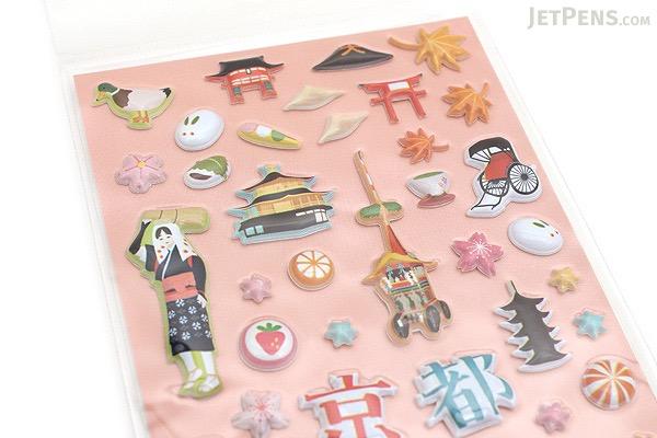 Kurochiku Japanese Puffy Stickers - Kyoto - KUROCHIKU 71312802