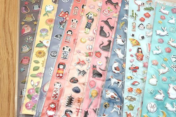 Kurochiku Japanese Puffy Stickers - Kokeshi (Doll) - KUROCHIKU 71312808