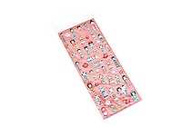 Kurochiku Japanese Puffy Stickers - Kokeshi (Doll) - KUROCHIKU 71312808