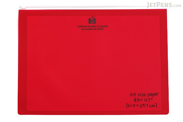 Etranger di Costarica Zipper Case - A4 - Transparency Red - ETRANGER DI COSTARICA ZIP-A4-62